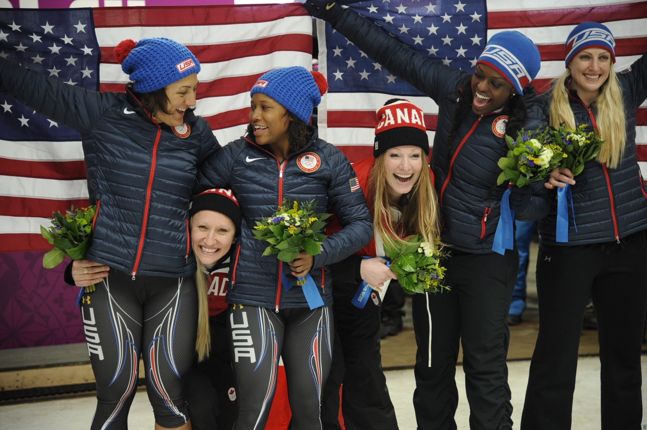Black Female Track Stars Make History At Winter Olympics Winning Silver And Bronze Medals