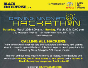 Black Enterprise, Toyota to Host 'Hackathon' for Black Techies in NYC