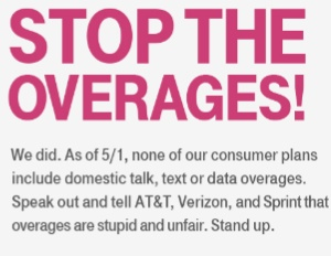 T-Mobile Abolishes Overage Charges