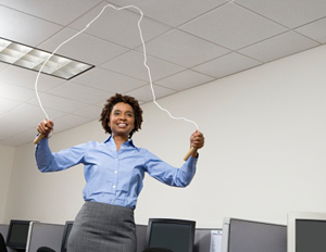 black_woman_jumping_rope_office