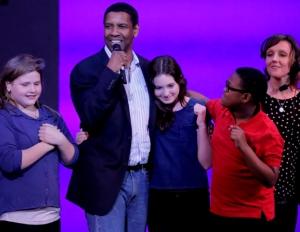 Denzel Washington Hosts 'Broadway Junior' Event in New York