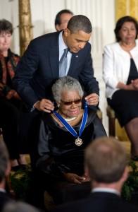 Obama and Maya Angelou