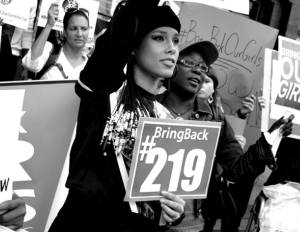 Alicia Keys Protests for Lost Nigerian Girls