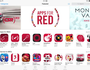 Apple's Product RED Fundraising Hits App Store