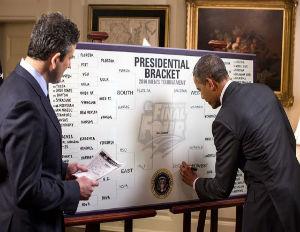 President Obama Shares March Madness Bracket