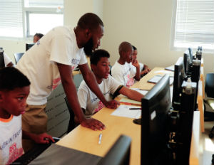 Middle School Boys from Baltimore Learn Coding and 3-D Design