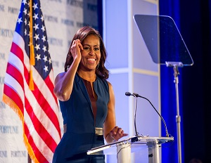 Michelle Obama Calls on Top Female Executives to Support Girls Education
