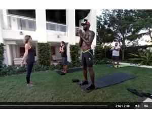 Lebron James doing yoga