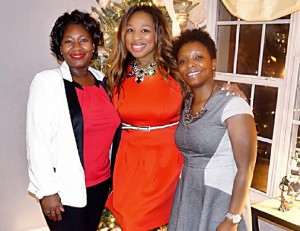 Aniesia Williams at pre-New Year's Eve 2015 dinner party