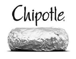 Chipotle logo and burrito image