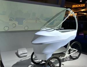 Futuristic car at CES 2016