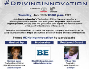 [RECAP] #DrivingInnovation Twitter Chat With Guest Mbye Njie