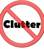 """""""no clutter"""" sign"""
