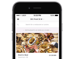 Uber Cooks Up Food Delivery App, UberEATS