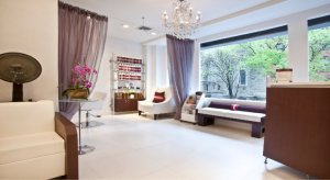 Luxurious receiving area at Amoy Couture Hair Salon