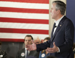 """Jeb Bush on Trump: """"It's Like Eating a Watermelon and Saying, 'I Love African Americans'"""""""