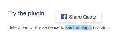 image of the quote facebook plugins