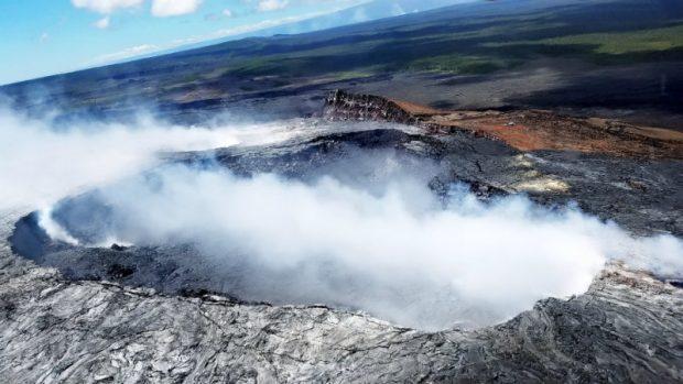 Aerial volcano tour