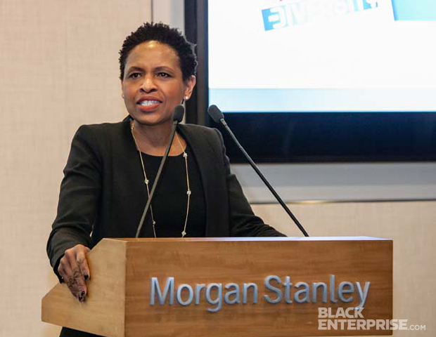 Susan K. Reid, Managing Director and Global Head of Diversity and Inclusion, Morgan Stanley, giving remarks