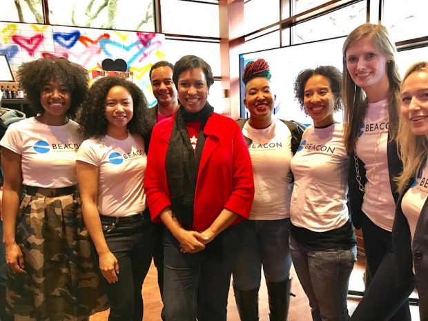 Mayor Muriel Bowser and the Beacon Team
