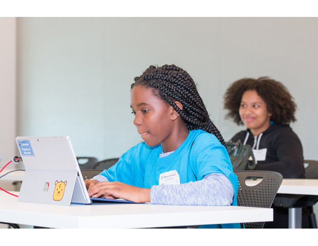 Girls STEM Tech Day at Microsoft