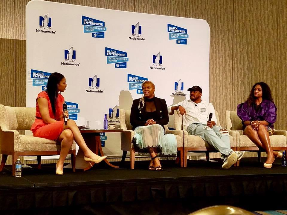 Claire Sulmers, Journalist, Founder, Fashion Bomb Daily, Everette Taylor, VP of Marketing, Skurt, LaShonda Johnson, CEO & Co-Founder, The Houston Housewives Finance Official, HHOF, Inc.