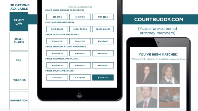 Court Buddy User Interface