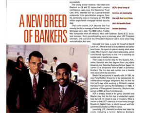 45 Great Moments in Black Business – No. 32: Black-Owned Investment Bank Smashes Multibillion-Dollar Corporate Finance Barrier