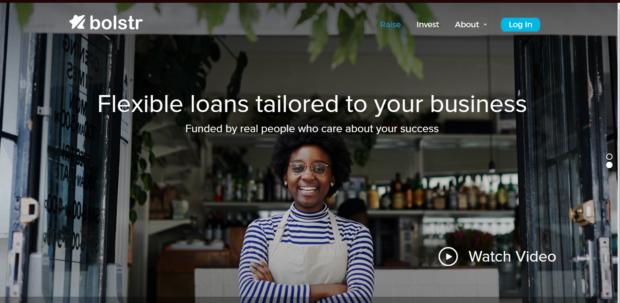 Bolstr Equity Crowdfunding Platform Homepage