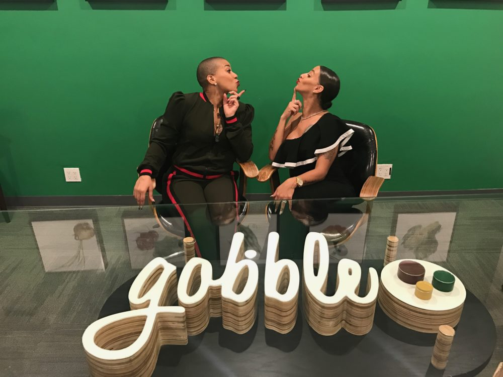 Crystal with her Su Chef Holly Watt at Gobble headquarters in Palo Alto, CA (Image: Gobble)