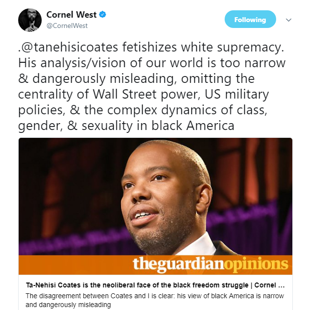 Cornel West Attacks Ta-Nehisi Coates and Black Twitter Weighs In