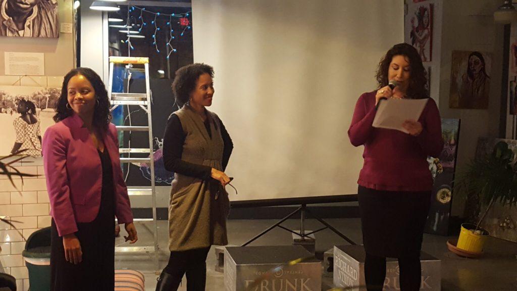 Podcast Hosts, L to R: Kristina Francis, Xina Eiland, and Aurelia Flores