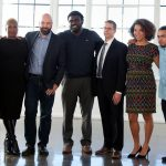 Left to right: James Monteiro, Topeka K. Sam, Jason Cleaveland, Marcus Bullock, Dirk Van Velzen, Amanda Alexander, Will Avila, and Teresa Hodge (Photo: courtesy of Unlocked Futures)