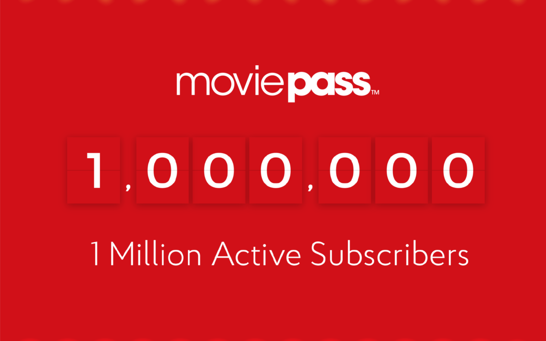 MoviePass Acquires over 1 Million Subscribers with $9.95 Price Point