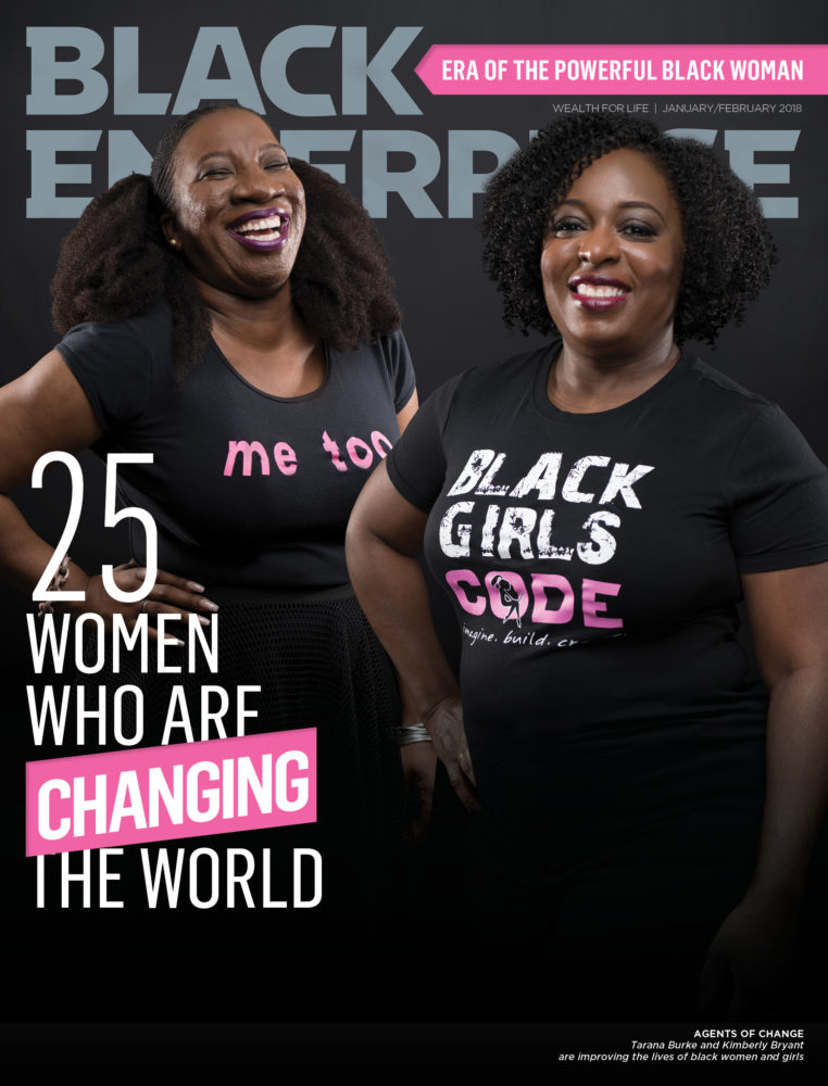 Black Enterprise magazine January/February 2018 cover - 25 black women who are changing the world