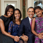 Barack Obama Sasha and Malia