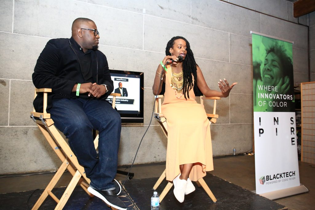 Co-founder, Black Tech Week Miami, Derick Pearson and Mary Pryor, Cannabis Entrepreneur (Image:  Serbaffo)