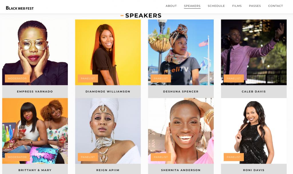 Speakers (Image: Black Web Fest)