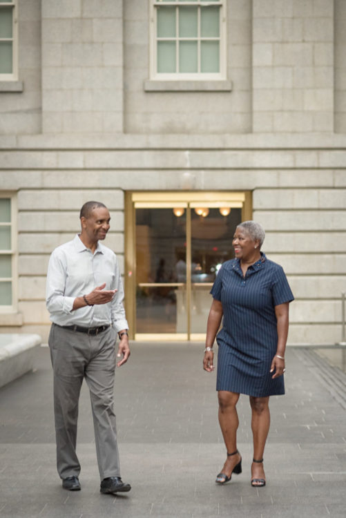Charles King and Kimberly Moore, Co-Founder of CarpooltoSchool (Image: kdbellz)