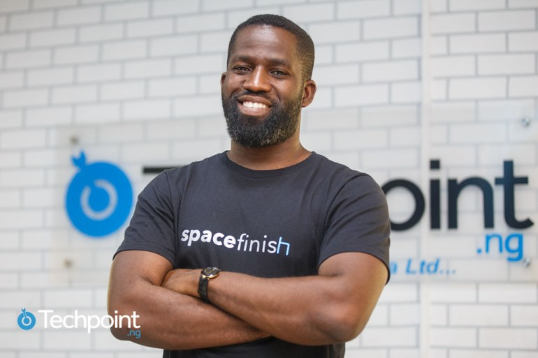 Founder of Office Space Design startup, Spacefinish, Remi Dada (Image Techpoint)