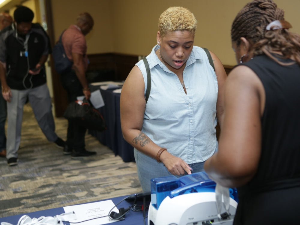 Black Men Xcel Recap Day 1 Event Check-in (sponsored by Discover The Palm Beaches)