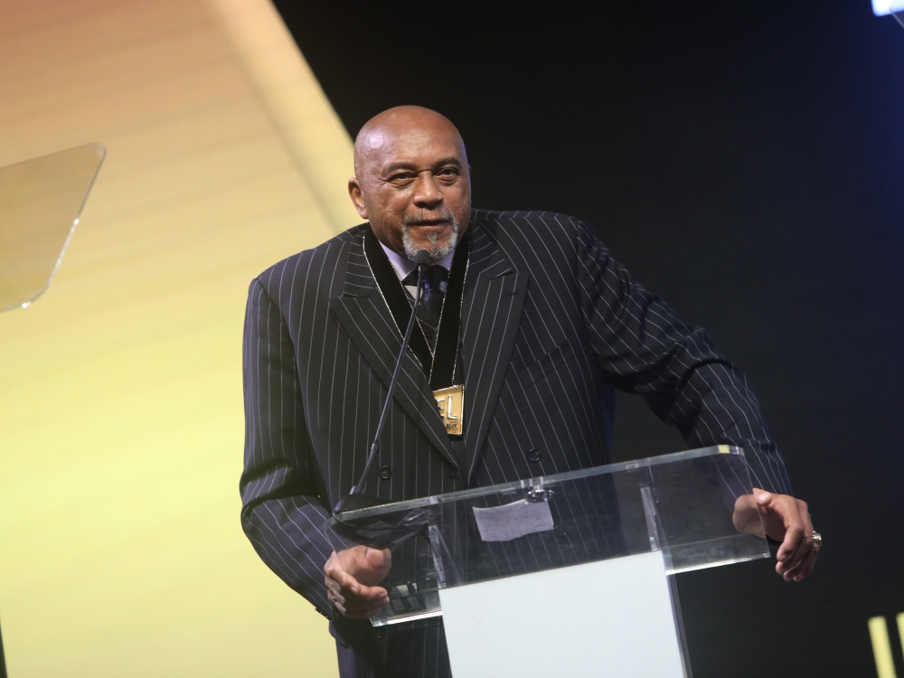 Black Men Xcel Recap Day 1 Tommie Smith receiving award