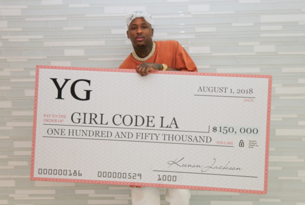Rapper YG Donates $150,000 to GirlCodeLA