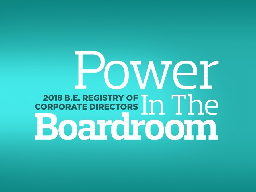 2018 B.E. Registry of Corporate Directors - black board members