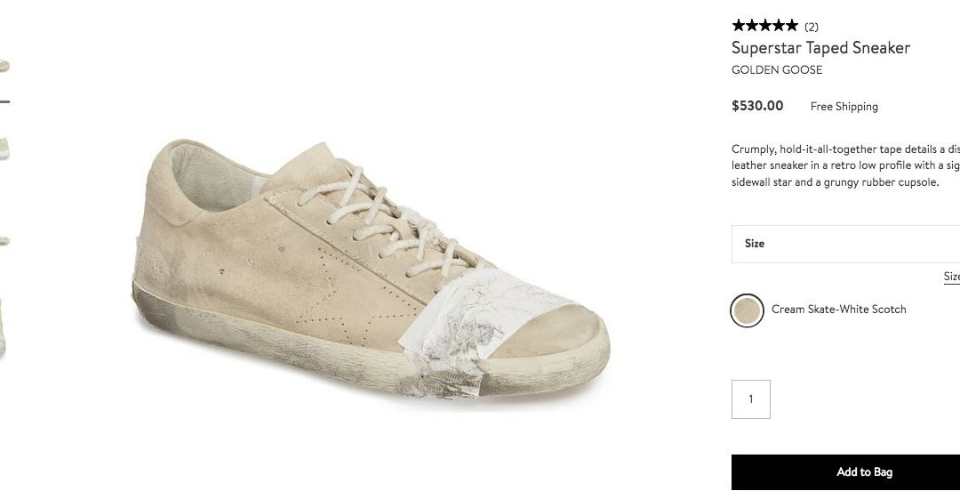 Twitter Sounds Off On High-Fashion Homeless-Looking Sneakers