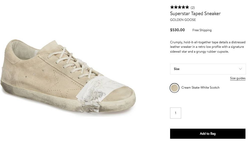 High-Fashion Homeless-Looking Sneakers