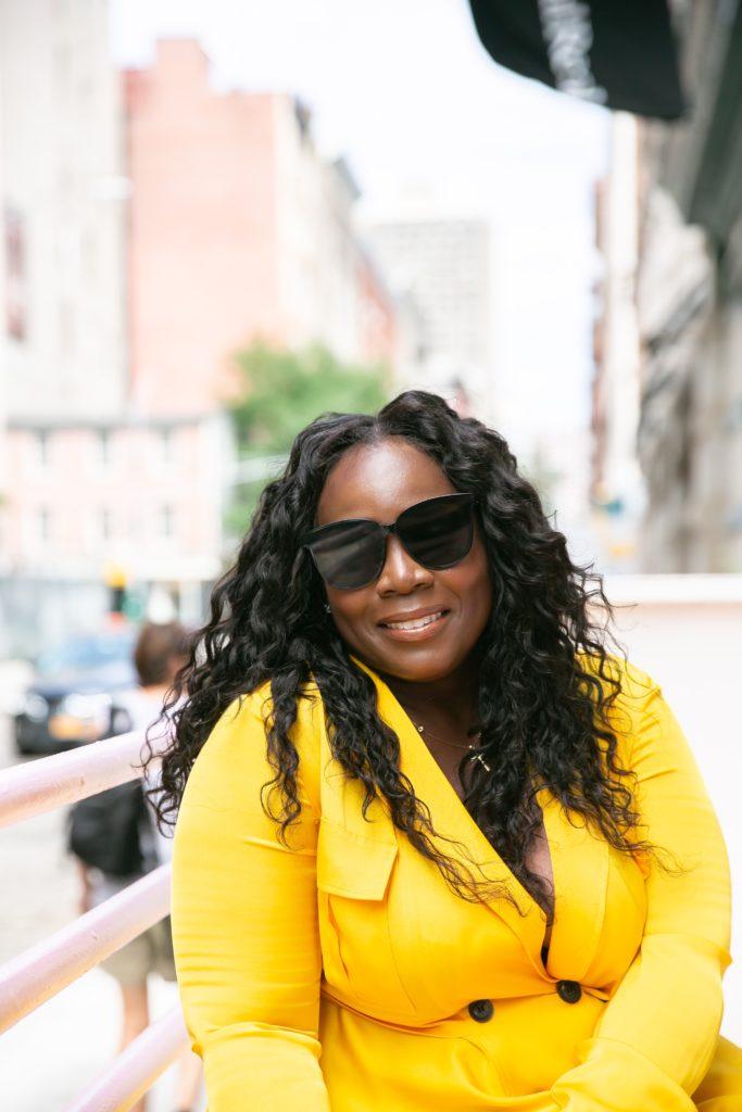 black woman fashion designer