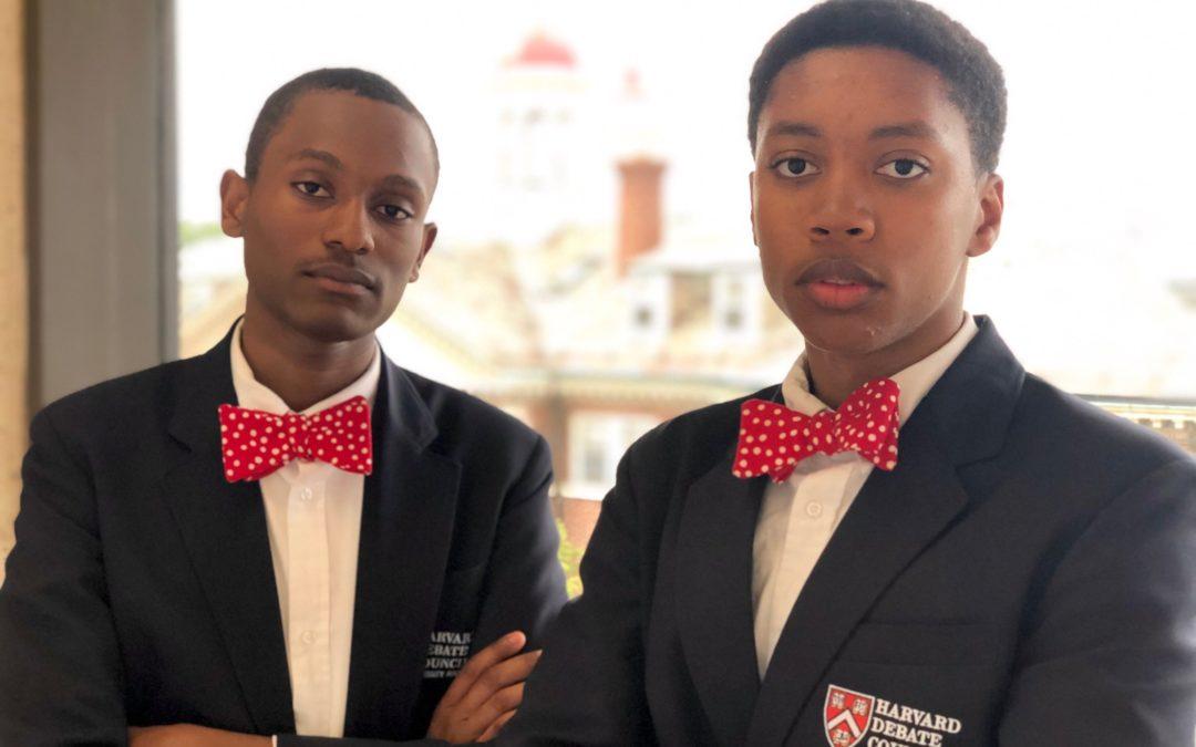 Two African American High School Boys Make History at Harvard Debate