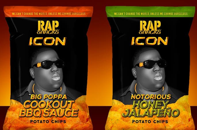 The Notorious B.I.G. is the Latest Rap Snacks ICON