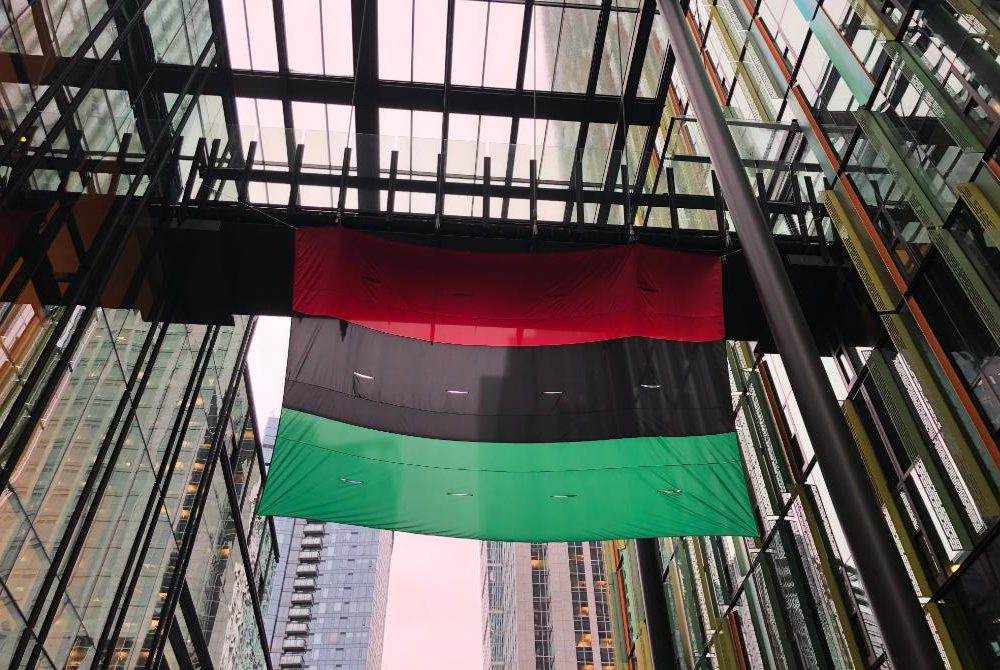 Amazon Raises Pan-African Flag at Seattle HQ to Celebrate Black History Month